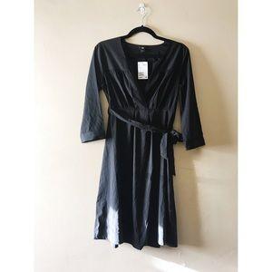 H&M: long sleeve black dress
